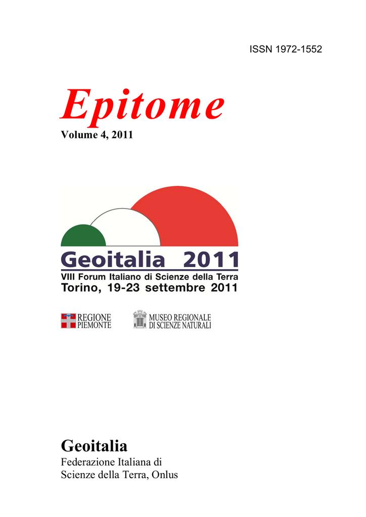 Carg Srl Firenze.Epitome Geoitalia Volume 4 2011