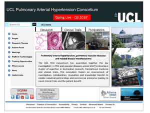 UCL Pulmonary Arterial Hypertension Consortium 'Going Live - Q3 2016'