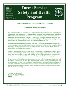 Forest Service Safety and Health Program