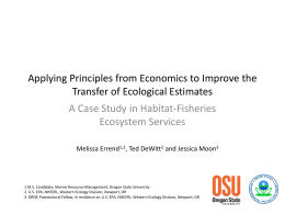 Applying Principles from Economics to Improve the Transfer of Ecological Estimates