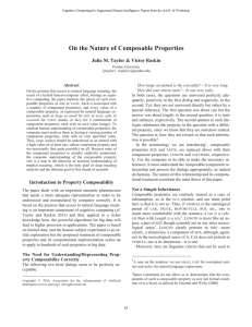 On the Nature of Composable Properties Abstract