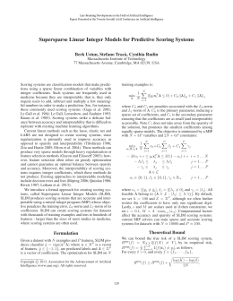 Supersparse Linear Integer Models for Predictive Scoring Systems