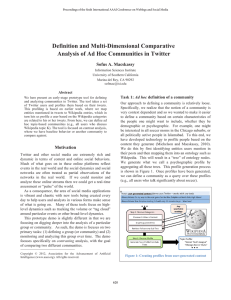 Definition and Multi-Dimensional Comparative Analysis of Ad Hoc Communities in Twitter