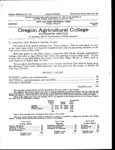 Extension Series VIII No. 22 Issued Monthly College Bulletin No. 141