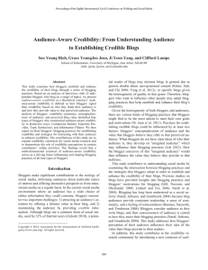 Audience-Aware Credibility: From Understanding Audience to Establishing Credible Blogs