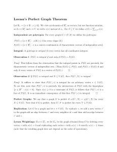 Lovasz's Perfect Graph Theorem