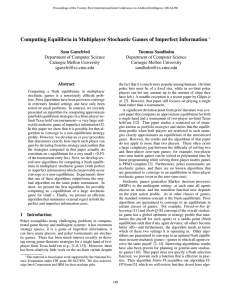 Computing Equilibria in Multiplayer Stochastic Games of Imperfect Information