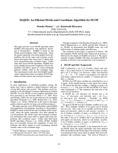 DeQED: An Efficient Divide-and-Coordinate Algorithm for DCOP