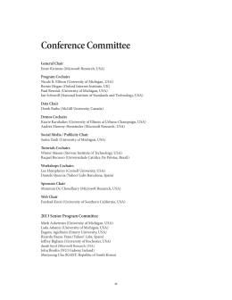 Conference Committee General Chair Program Cochairs