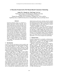 A Theoretic Framework of K-Means-Based Consensus Clustering