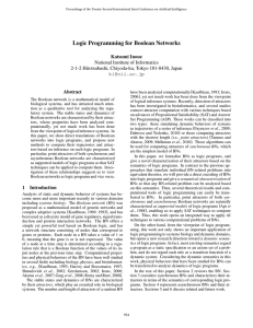 Logic Programming for Boolean Networks