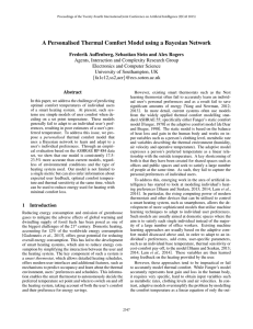 A Personalised Thermal Comfort Model using a Bayesian Network