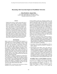 Reasoning with Uncertain Inputs in Possibilistic Networks