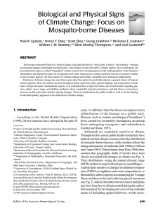 Biological and Physical Signs of Climate Change: Focus on Mosquito-borne Diseases