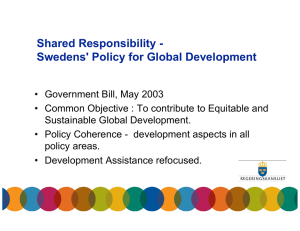 Shared Responsibility - Swedens' Policy for Global Development