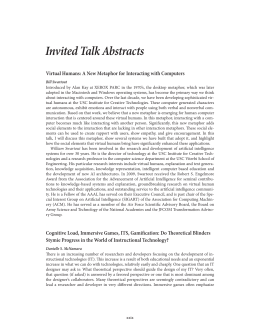 Invited Talk Abstracts