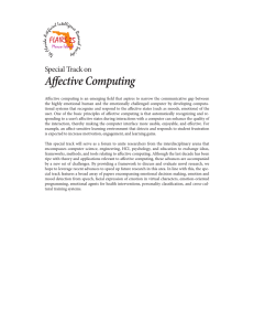 Affective Computing Special Track on
