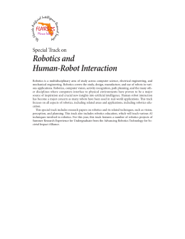 Robotics and Human-Robot Interaction Special Track on