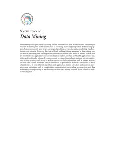 Data Mining Special Track on