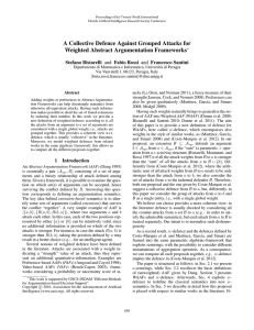A Collective Defence Against Grouped Attacks for Weighted Abstract Argumentation Frameworks
