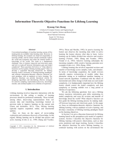 Information-Theoretic Objective Functions for Lifelong Learning Byoung-Tak Zhang