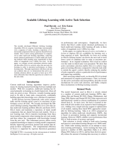 Scalable Lifelong Learning with Active Task Selection