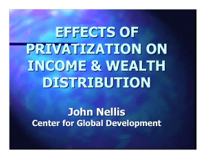EFFECTS OF PRIVATIZATION ON INCOME & WEALTH DISTRIBUTION