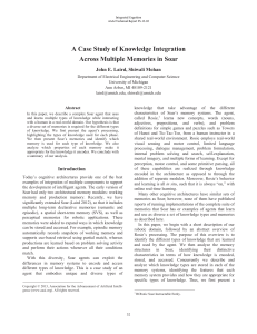 A Case Study of Knowledge Integration Across Multiple Memories in Soar