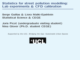 Statistics for street pollution modelling: Lab experiments & CFD calibration