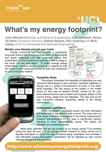 What's my energy footprint?! Sense and Sustainability""
