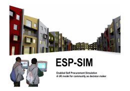 ESP-SIM Enabled Self Procurement Simulation