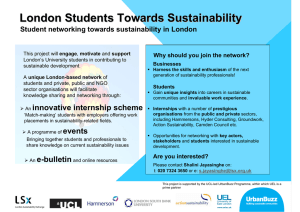 London Students Towards Sustainability Student networking towards sustainability in London