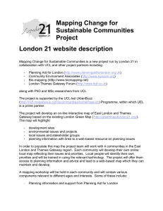 Mapping Change for Sustainable Communities Project London 21 website description