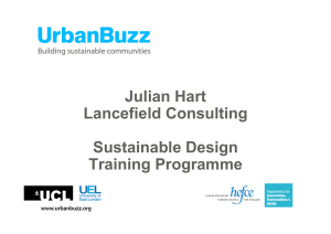Julian Hart Lancefield Consulting Sustainable Design Training Programme