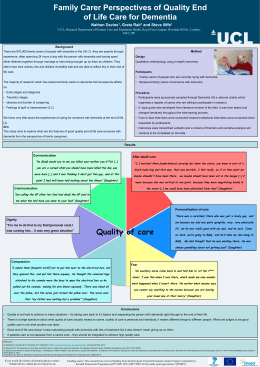 Family Carer Perspectives of Quality End of Life Care for Dementia