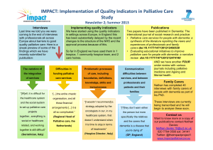 IMPACT: Implementation of Quality Indicators in Palliative Care Study Interviews
