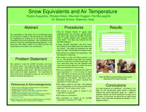 Snow Equivalents and Air Temperature Abstract Procedures Results