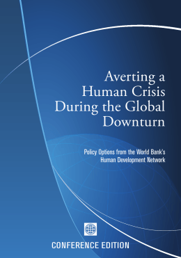 Averting a Human Crisis During the Global Downturn