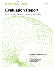Evaluation Report Cover Textures For the evaluation of the Kidstime Workshops