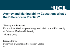 Agency and Manipulability Causation: What's the Difference in Practice?