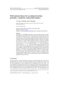 Field emission theory for an enhanced surface