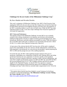 the Millennium Challenge Corp. By Steve Radelet and Mvemba Dizolele