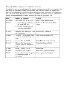 History 321 (2015):  Assignments for Leading Class Discussion