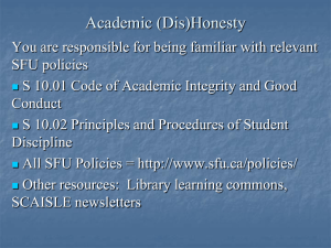 Academic (Dis)Honesty