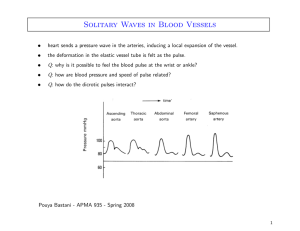 Solitary Waves in Blood Vessels