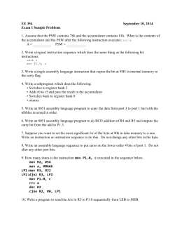 EE 354 September 10, 2014 Exam 1 Sample Problems