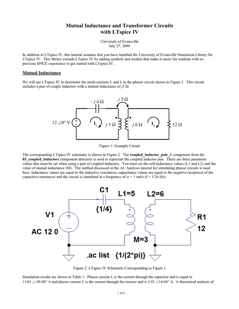 Mutual Inductance And Transformer Circuits With Ltspice Iv Figure 2 Transformercircuit Diagram 013957679 1 97d3a798a6747a5176c4a4ea2673b29a