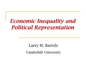 Economic Inequality and Political Representation  Larry M. Bartels