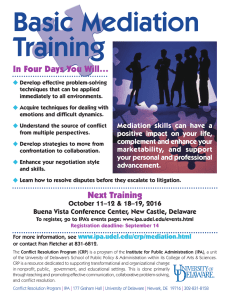 Basic Mediation Training In Four Days You Will…