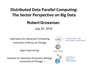 Distributed Data Parallel Computing: The Sector Perspective on Big Data Robert Grossman